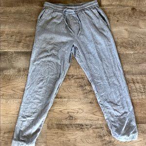 J. Crew linen joggers/pants. Size M